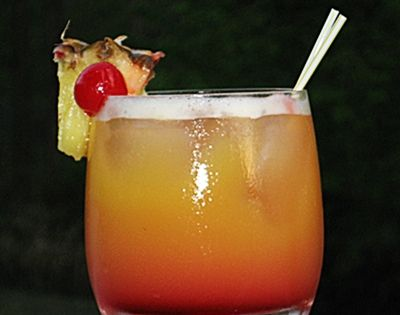 A Day At The Beach...2 oz coconut rum, 1 oz amaretto, 4