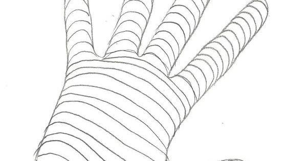 Contour Line Drawing Technique : Hand cross contour drawing health pinterest
