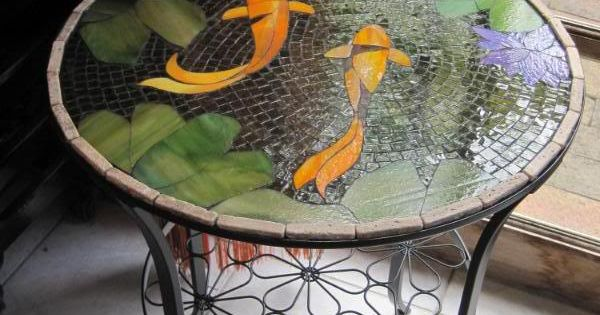 Koi mosaic table photo this photo was uploaded by for Koi pool table