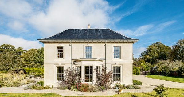 Georgian style self built facade with golden ratio house for Georgian new build