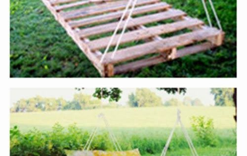 Pallet bed swing for the backyard