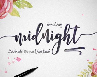 5 Digital Fonts For 5 Dollar Handwritten And Watercolor Font