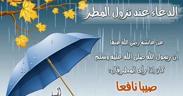 الدعاء عند نزول المطر Umbrella Bal Ale