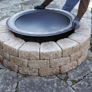A Quick And Easy Do It Yourself Firepit Surround Outdoor Fire