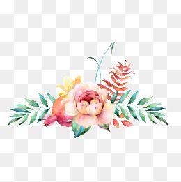 2020 的 Watercolor Floral Decoration Watercolor Clipart
