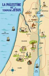 Carte De La Palestine Au Temps De Jesus Ecole Du Dimanche Education Chretienne Enseignement Biblique