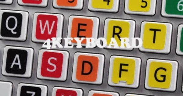 Learning English Large Lettering Colored Non Transparent Keyboard