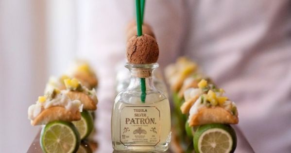 Tacos and margaritas: the perfect pair! Enjoy mini tacos and a margarita