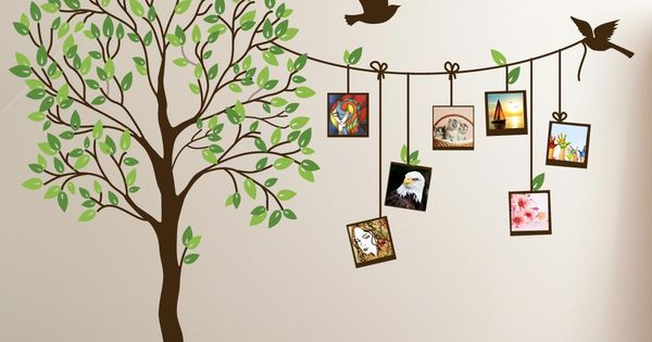 Image Of Cute Family Tree Wall Decal Paint For Bedrooms