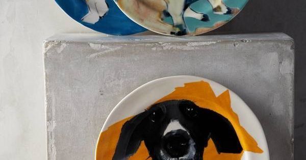 sally muir dog a day dessert plate q1 pet lover On sally muir dog plates