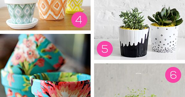 10 DIY Pretty Plant Pots You Can Create This Weekend by Kimberly