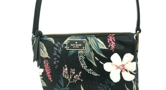 Kate Spade Wilson Road Botanical Madelyne Floral Nylon Crossbody Bag WKRU5752