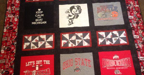 Ohio State Buckeyes T Shirt Quilt Quilting Pinterest