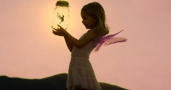 Catching Fairies :) What a beautiful picture! Be sure to set her