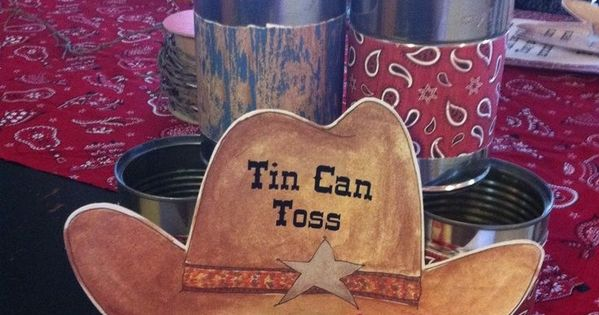 cowboy party ideas cowboy theme party games tin can