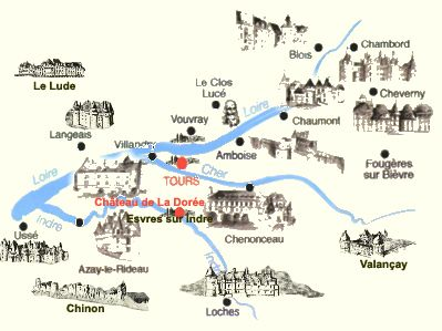 Loire Valley Map Map Chateaux Loire Vallee Loire Valley Map
