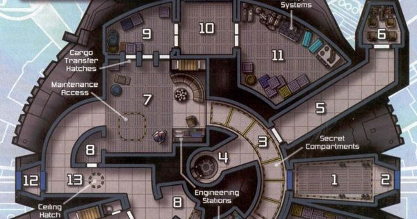 Millennium Falcon Layout Starship Deckplans Pinterest Toilets Awesome And Cutaway