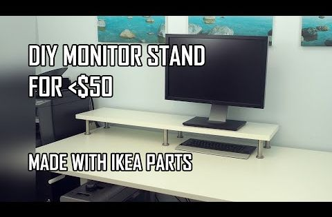 Diy Monitor Stand Ikea Computer Desk Hack With Ekby