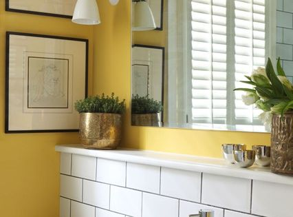 30 marvelous small bathroom designs leaves you speechless for Bright yellow bathroom ideas