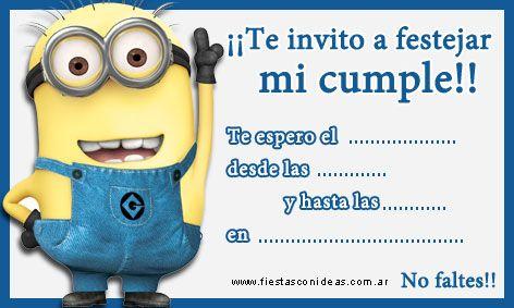 Tarjeta De Cumpleaños De Los Minions Para Imprimir