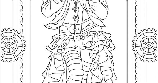 Adult Coloring Pages Quot Creative Haven Steampunk Fashions