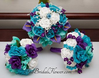 Purple And Turquoise Wedding This Is The Colors That Leeann