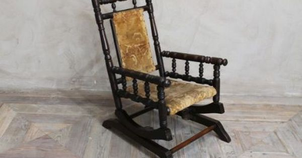 Edwardian Childs American Rocking Chair Sandalye