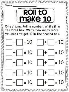 First Grade Math Unit 3 First Grade Math Math Addition Homeschool Math Kindergarten math worksheets making 10