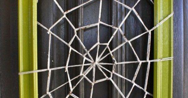 Spider Web Frame Halloween Wreath