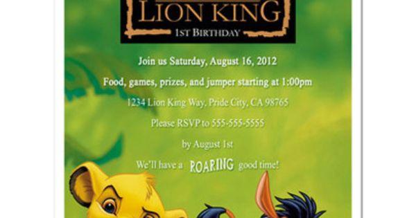Lion King Invitations Birthdays was adorable invitations ideas