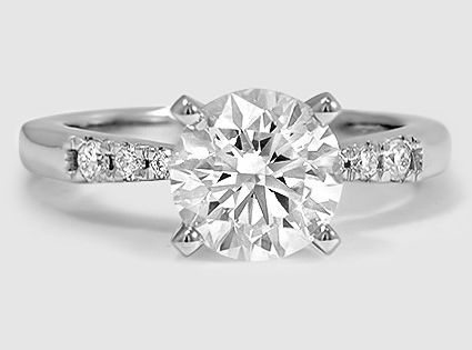 My Diamond Story Ring 18k White Gold Certified 3 Stone Diamond