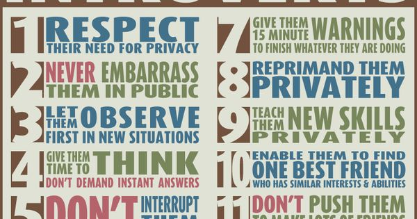How to Care for Introverts. Love this! Put it on a poster ...