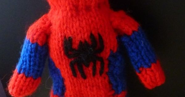 Knitting Pattern For Spiderman Doll : Free Spiderman knitting pattern Super Hero Crafts and ...