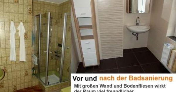 badsanierung vorher und nachher badezimmer fliesen. Black Bedroom Furniture Sets. Home Design Ideas