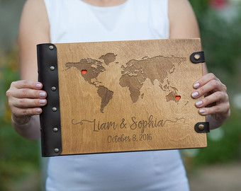 World Map Guest Book For Destination Wedding Our Adventure