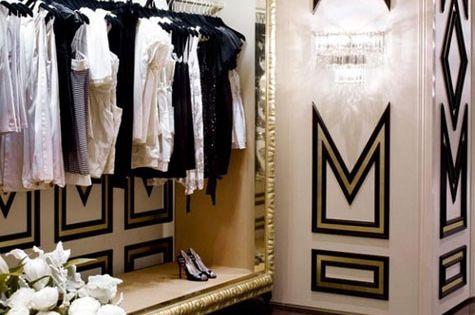 Color scheme ideas: black, white, gold