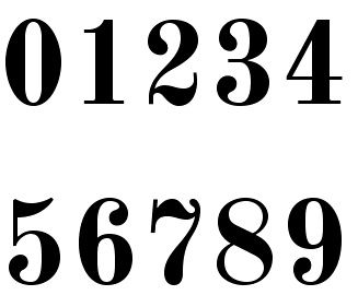 Old Standard Is Part Of The Google Open Font Directory Of Free Web Fonts And Was Adapted For Tex Use Lettering Alphabet Fonts Numbers Typography Number Fonts