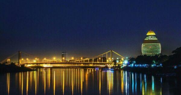 Bridge Reflections On The Blue Nile Khartoum إنعكاسات الكبري علي النيل الأزرق الخرطوم By Waleed Ahmadon Sudan Khartoum Blueni Aswan Cityscape Photo