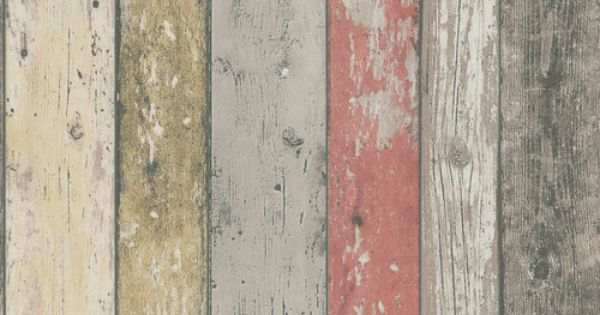 Realistic Shabby Chic Coloured Distressed Wood Panel