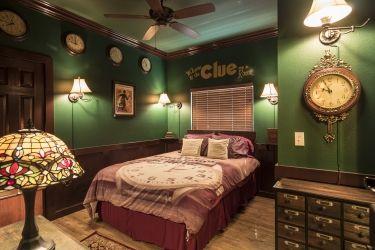 Clue Themed Escape Room At The Great Escape Lakeside Retreat Vacation Rental Estate Near Orlando Florida And Dis Escape Room Escape Room Game Trendy Bedroom