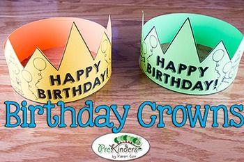 Free Birthday Crown Certificate Birthday Board Classroom