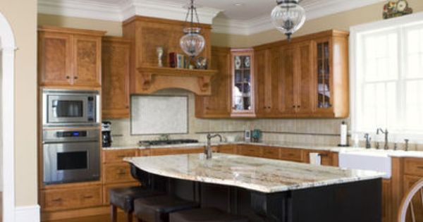 Kitchen Island Different Color Than Cabinets 10 kitchens that aren't white | stone backsplash, stove and stone
