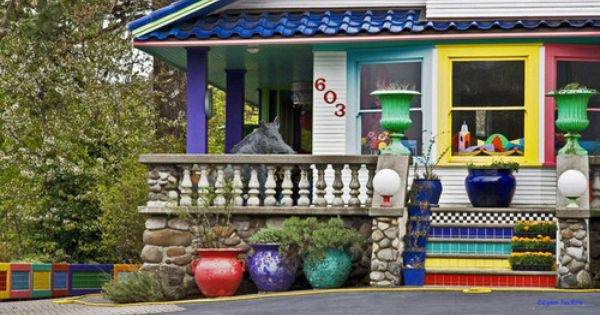 Colorful House Hood River Oregon House Colors Pretty House