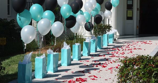 birthday party decorations,tiffany blue birthday ideas sweet 16