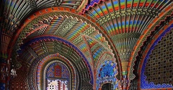 The Peacock Room Castello di Sammezzano in Reggello, Tuscany, Italy. Amazing colors
