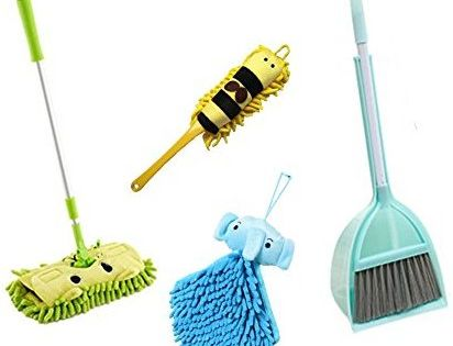 Amazon Com Xifan Kid S Housekeeping Cleaning Tools Set 5pcs Include Mop Broom Dust Pan Brush Towel Mommy S Little Helpe Cleaning Tools Broom Broom And Dustpan