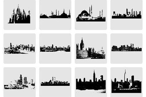 Hot Freebie Vector City Skylines And Monuments Silhouette City Skyline Skyline