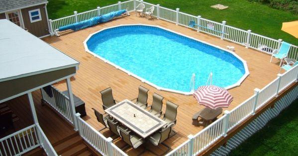 Big Deck Idea Above Ground Pool Decks Pinterest