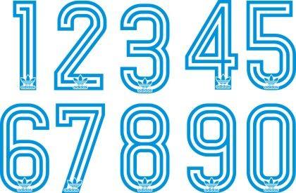 vencimiento Intacto celos  Diseños, vectores y más: Números Adidas años 80 | Tipografía números,  Fuentes deportivas, Adidas vector