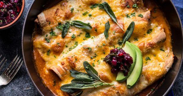 Turkey enchiladas, Butternut squash and Chile on Pinterest